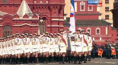 Парад Победы на Красной площади. Проход пеших колонн