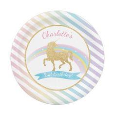Birthday Gifts    Unicorn Birthday Party Paper Plates
