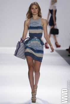 Charlotte Ronson RTW Spring 2013 The designer sent out plenty of tropical-print dresses and fun netted-baseball-jacket-and-shorts combos her...