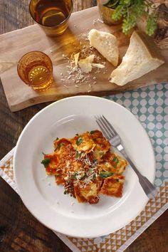 Cheese Ravioli all'Amatriciana - Recipe by Giovanni Rana