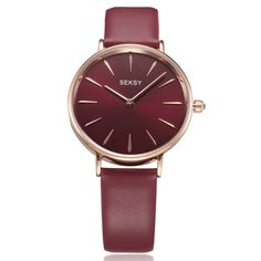 853dc6f2b71e New SEKSY Scarlet Watch Women Simple Style Rose Gold Case elegant Analog Quartz  Wrist Watch With Genuine Leather Band For Ladies