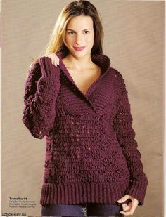 ♥  THIS IS BEAUTIFUL... I LOVE IT!!! ♥ Crochet sweater: chart and pattern