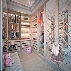Let's have a bit of fun and Glam this morning with this luxury princess closet🌸Designed by.{ } Tag someone who would love this… Walk In Closet Design, Bedroom Closet Design, Girl Bedroom Designs, Closet Designs, Bedroom Decor, Bedroom Ideas, Bedroom Girls, Bedroom Inspo, Wall Decor