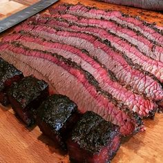 Brisket with a savory smoke ring and cubed burnt ends [808  808]