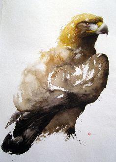 Golden Eagle - Karl Mårtens - watercolor