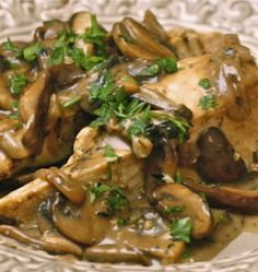 Chicken with wild mushrooms and balsamic cream sauce - The Hopeless Housewife®