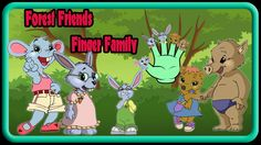 Forest Friends | Forest Friends Animated Cartoon Finger Family Rhymes | ...