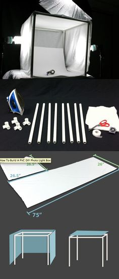 pvc diy photo light box More
