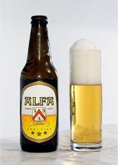 Alfa Edel Pils, Lager Pils 5.0% ABV (Omega Schinner-Meens Bierbrouwerij, Países…