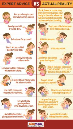 Expert Parenting Advice vs. Actual Parenting Reality