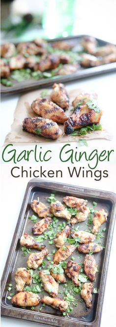These Garlic Ginger Chicken Wings made with Sprite are so easy and delicious! You can find all the ingredients for this recipe at Sam's Club! Best Appetizer Recipes, Best Appetizers, Dinner Recipes, Best Fried Chicken Recipe, Chicken Wing Recipes, Easy Family Dinners, Quick Easy Meals, Garlic Ginger Chicken, Cooking Sheet