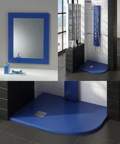 Uno de los colores más usados en el baño es el azul, te enseñamos algunos elementos para darte ideas de como usarlos.