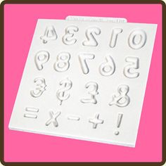 Domed Numbers Silicone Mould by Katy Sue Designs  Available from www.hostesspro.co.za