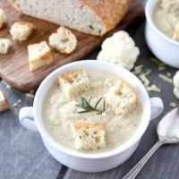 Roasted Cauliflower & Cheddar Soup | Two Peas and Their Pod | www.twopeasandtheirpod.com #recipe
