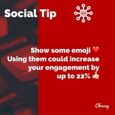 If you don't currently use Emoji's with your content, it's worth testing to see if they work for you. Test's have shown you could increase your engagement between 15% and 2️⃣2️⃣% - add them to your next post and see what happens. Don't go over the top, maybe one or two here and there is a good start. 😃