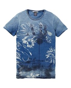 Indigo photo print tee|T-shirt s/s|Men Clothing at Scotch Soda