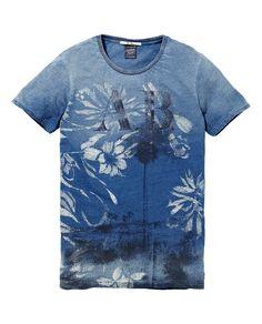 Indigo photo print tee|T-shirt s/s|Men Clothing at Scotch  Soda