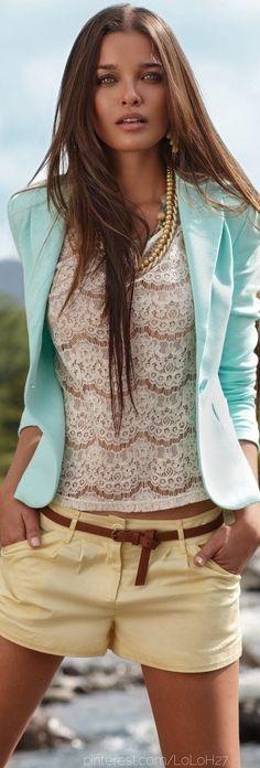 Minus the blazer-who wears blazers in the summer!!!