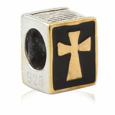 Holy Bible Enamel Authentic Sterling Silver Solid Core Charm