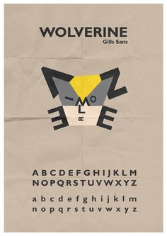 Wolverine Typeface by ~mattcantdraw on deviantART Wolverine, User Profile, Typography Design, Sci Fi, Nerd, Geek Stuff, San, Deviantart, Graphic Design