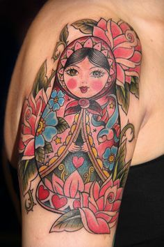 poster matryoshka | 1000+ images about Tattoos on Pinterest | Day of the dead, Sugar skull ...