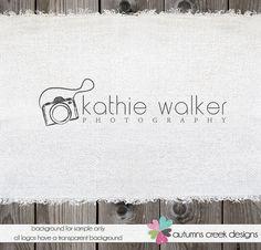 Premade Logo for Photographers Sketch Doodle Camera Logo Watermark Design