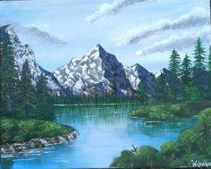 Oil Painting of Banff national park, Alberta, Canada By: Wajeeha Zaheer
