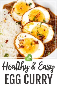 The best Idian Egg Curry recipe that is healthy and super easy to make! The secret of this dish is the delicious, auromatic homemade sauce made from various herbs and ground spices. It's perfect for family meals and potlucks. #eggcurry #asianrecipes #indian #dinner #maincourse #sauce #healthyrecipes #healthyrecipes101 Best Egg Recipes, Best Indian Recipes, Best Dinner Recipes, Good Healthy Recipes, Asian Recipes, Indian Egg Curry Recipe, Homemade Tomato Sauce, Curry Dishes, Indian Dishes