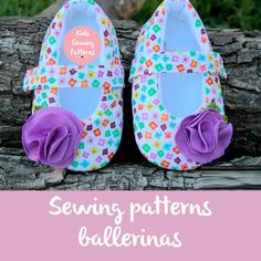 Sewing PAtterns Baby shoes Ballerinas by KidsSewingPatterns on Etsy