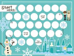 Frozen printable rewards chart for potty training, staying in bed...you name it