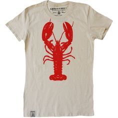 Rock Lobster Women's Organic Fine Jersey Short Sleeve T-Shirt in... (€27) ❤ liked on Polyvore featuring tops, t-shirts, t shirts, red t shirt, shirts & tops, jersey knit shirts, short sleeve tee and red shirt
