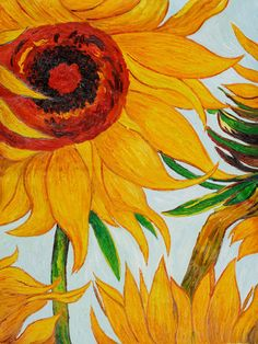 Vincent Van Gogh - Sunflowers (detail) - oil painting reproduction at overstockArt.com