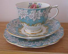 Vintage Royal Albert Enchantment Tea Cup & Saucer, Plate Trio Bone China England Three Piece Set ETSY