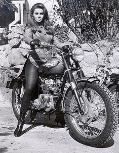 1965 Triumph Bonneville & Ann Margret by Taber3