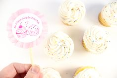 Ruffled + Stamped Valentine Cupcake Toppers
