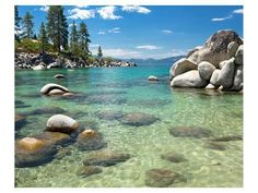 Whether you're after a solid beach day, a backcountry camping experience, or learning the cultural importance of landmarks and some of Tahoe's first inhabitants, the sky's the limit when it comes to outdoor recreation at Lake Tahoe Nevada State Parks. Lake Tahoe Nevada, Sand Harbor Lake Tahoe, Tahoe California, Yosemite National Park, National Parks, State Parks, Lago Tahoe, Beach Wall Murals, Wall Art
