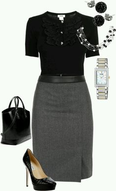 Business Outfit Frau – Rock, Bluse und passende Accessoires Business outfit woman – skirt, blouse and matching accessories Office Outfits For Ladies, Office Attire Women Professional Outfits, Casual Attire, Professional Work Clothes, Office Uniform For Women, Office Style Women, Job Interview Outfits For Women, Cute Office Outfits, Work Attire Women