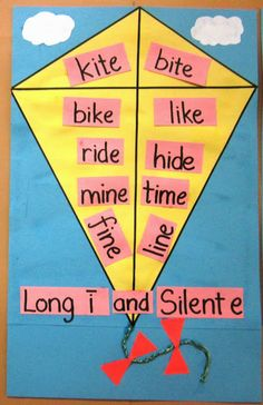 Long i and silent e words - craft for phonics