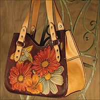 FREE PATTERN FOR MOTHER'S DAY!  This tooling pattern by Charlie Davenport fits the Sophia Handbag Kit #44314-00.