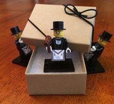 Lego Freemason With Gavel and Apron by on Etsy Masonic Tattoos, Masonic Gifts, Business Checks, Freemasonry, Masons, Knights Templar, Compass, Cartoons, Free Thinker