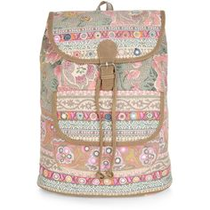 Accessorize Casablanca Floral Backpack (600 NOK) ❤ liked on Polyvore featuring bags, backpacks, decorating bags, floral pattern backpack, backpacks bags, woven backpack and floral print bags