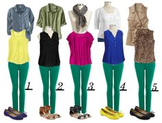 how to style green pants
