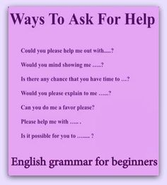 Forum | ________ Learn English | Fluent LandWays to Ask for HELP | Fluent Land