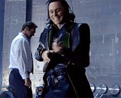 Loki (GIF) <---Tom looks like more of a maniac out of character than he ever did in character <3