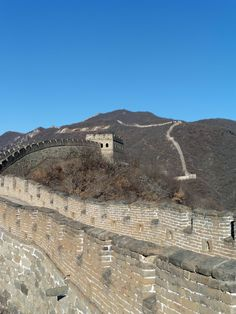 The Great Wall of China. Beautiful, sunny day in January. Relaxing atmosphere with almost no tourists. Great Wall Of China, Sunny Days, Grand Canyon, Walls, In This Moment, Nature, Travel, Beautiful, Asia