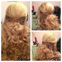 Half up braid and curls