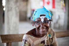 A lovely Haitian woman happy to have some new reading glasses. From our Haiti, 2011 mission