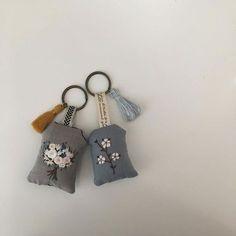 Embroidery, keyrings