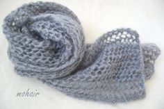 January 6, 2013 Beautiful mohair yarn makes a wonderful, lacy, fuzzy scarf
