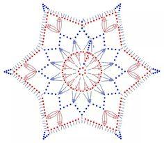 Crochet snowflake chart.